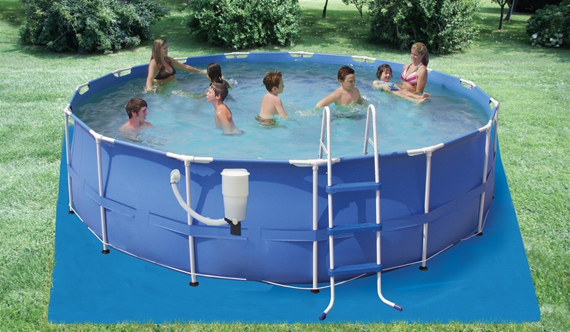 "Intex 15' x 42"" Above Ground Round Frame Swimming Pool Set"