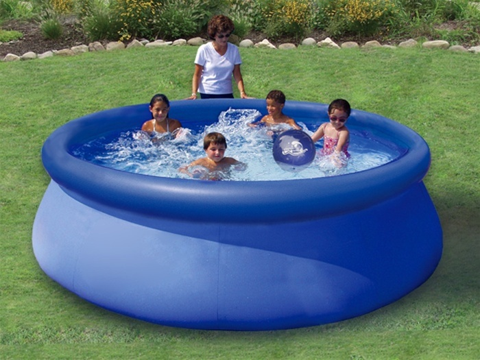 "Intex 8' x 30"" Easy Set Above Ground Ring Swimming Pool Set"